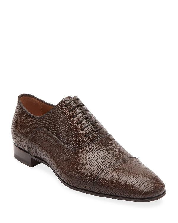 e63f8fffebc5 Christian Louboutin Men s Greggo Textured-Leather Dress Shoes In ...