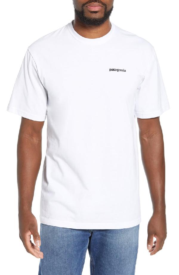 Patagonia Fitz Roy Bison Responsibili-Tee T-Shirt In White