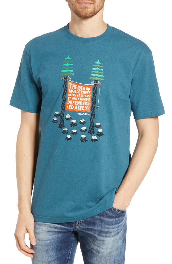 Patagonia Treesitters Responsibili-Tee Graphic T-Shirt In Tasmanian Teal