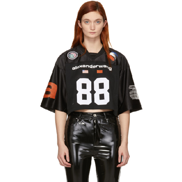 2625fa1716e Alexander Wang Athletic Jersey Cropped Top In 001 Black | ModeSens
