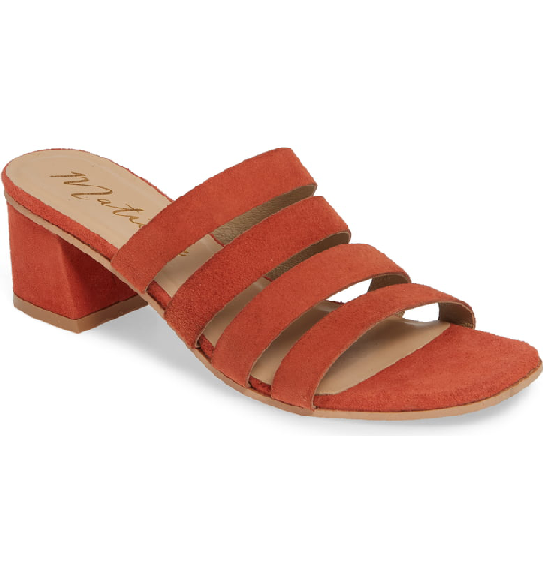 Matisse Paris Strappy Slide Sandal In Fire Suede