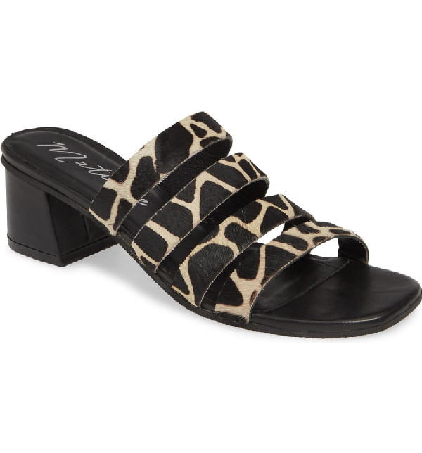 Matisse Paris Strappy Slide Sandal In Giraffe Calf Hair