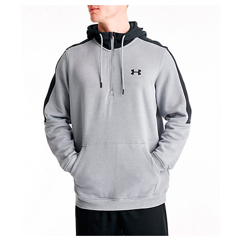 Under Armour Men's Microthread Fleece Half zip Hoodie In Grey