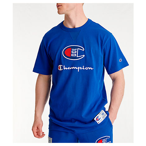 b1fe4fc7 Champion Men's Century Collection Chenille Logo T-Shirt, Blue | ModeSens