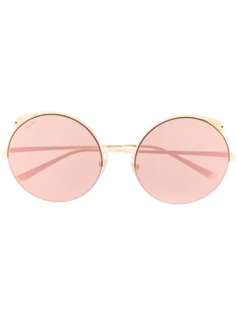 Cartier Polished Gold Round Sunglasses