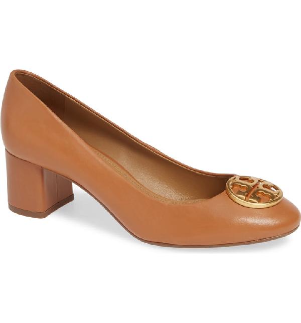 0a19411cd7 Tory Burch Women's Chelsea Block-Heel Pumps In Royal Tan | ModeSens