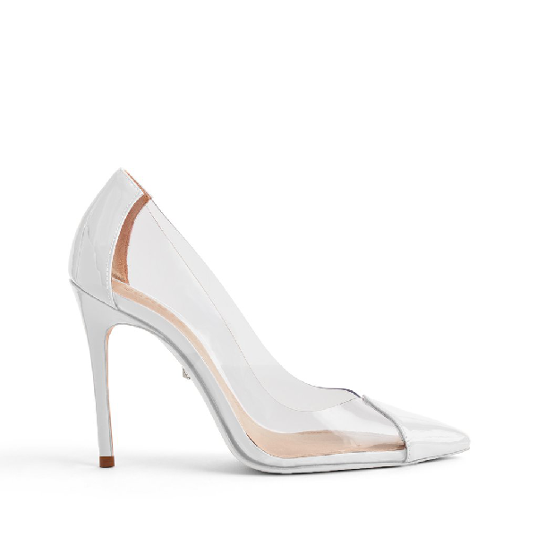 Schutz Women's Cendi Patent Leather High-Heel Pumps In White