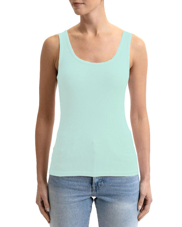 cd96dce9b Three Dots Plus Size Combed Cotton Tank Top In Island Sea