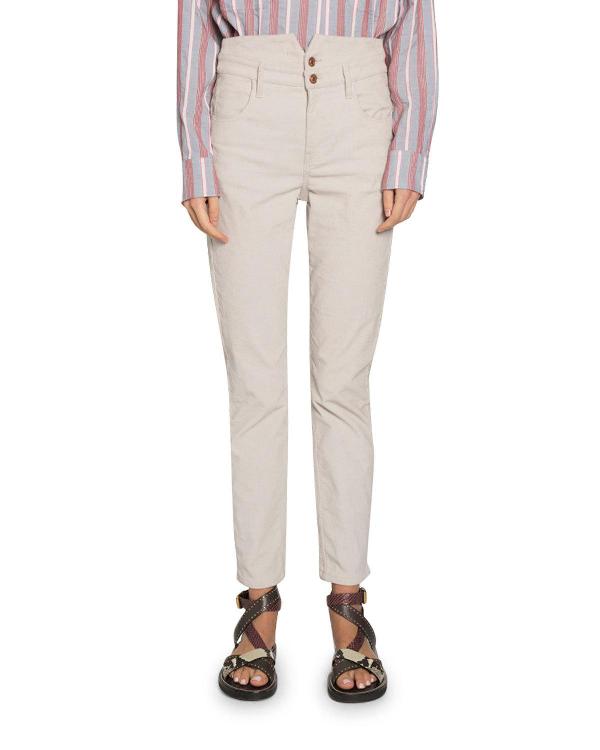 a2e9e0ef38 Isabel Marant Verna Super High-Waist Skinny Pants In White | ModeSens