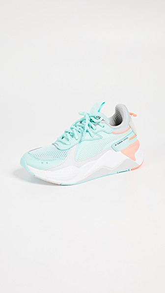 Puma Rs-X Tracks Lace-Up Trainer Sneakers In Fair Aqua/Glacier Grey
