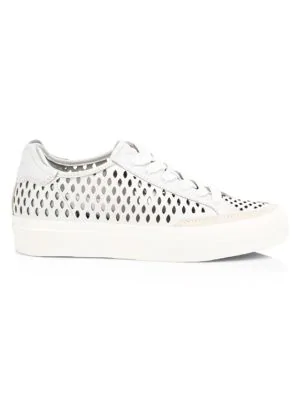 Rag & Bone Rb Army Low-Top Perforated Leather Sneakers In White