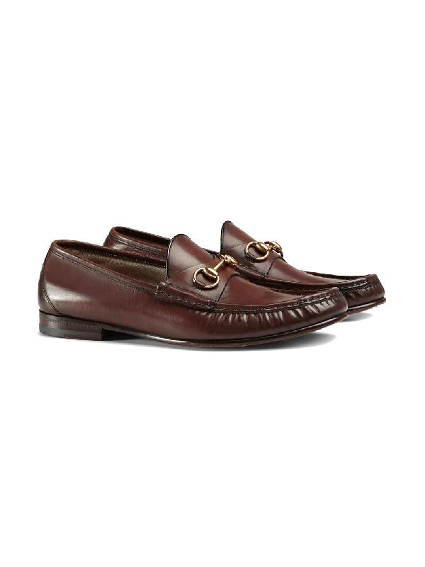 624da168fe33 Gucci Men s Leather Horsebit Loafers