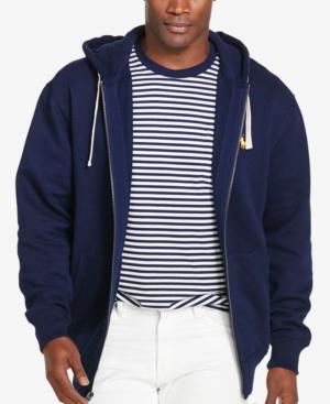 Polo Ralph Lauren Men's Big And Tall Classic Fleece Full Zip Hoodie In Navy