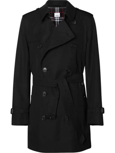 Burberry Trenchcoat Aus Gabardine In Black