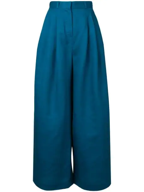 Zimmermann Wide-Leg Trousers - Blue