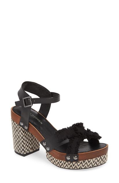 ee1c55a4e4e Kelsi Dagger Brooklyn Flora Woven Platform Sandal In Black Leather ...