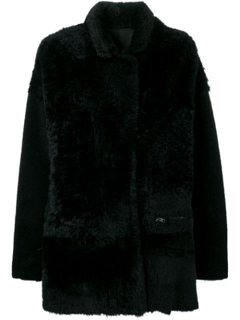 Liska Atlantide Midi Coat In Black