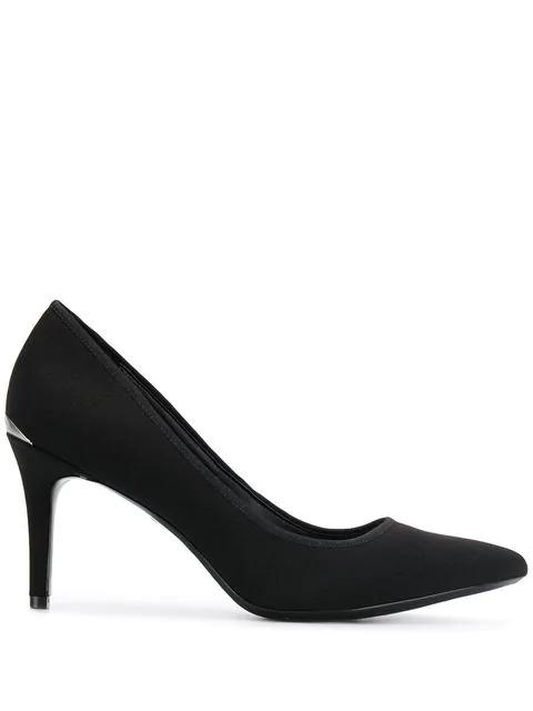 Calvin Klein Logo Heel Pump In Black