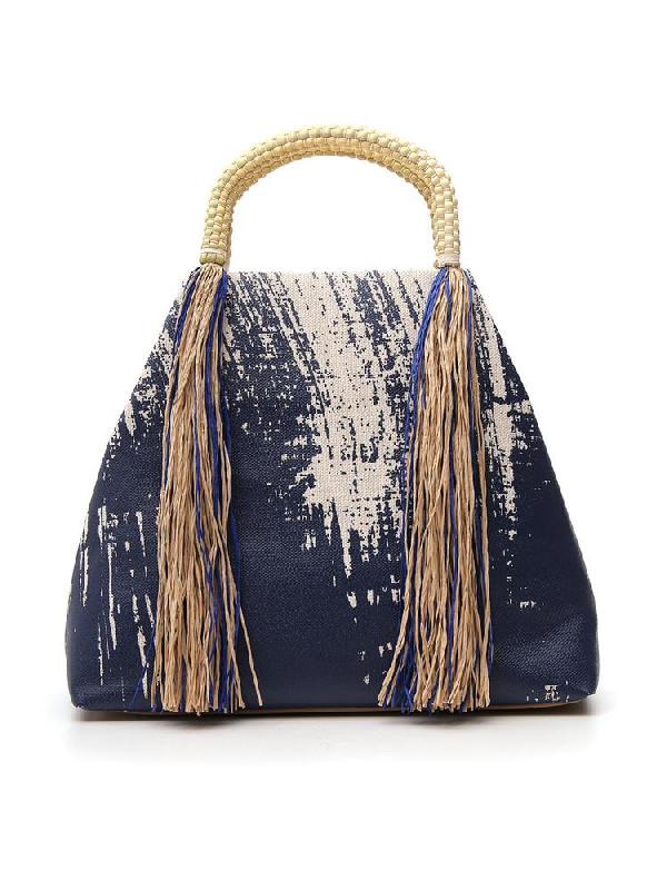 Issey Miyake Tassle Tote Bag In Blue