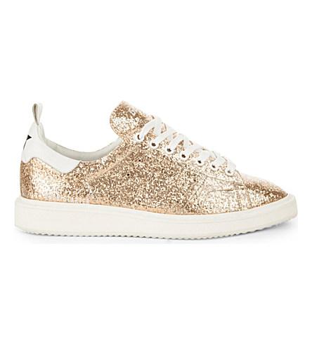 Golden Goose Gold Glitter Starter Low-Top Sneakers In Metallic