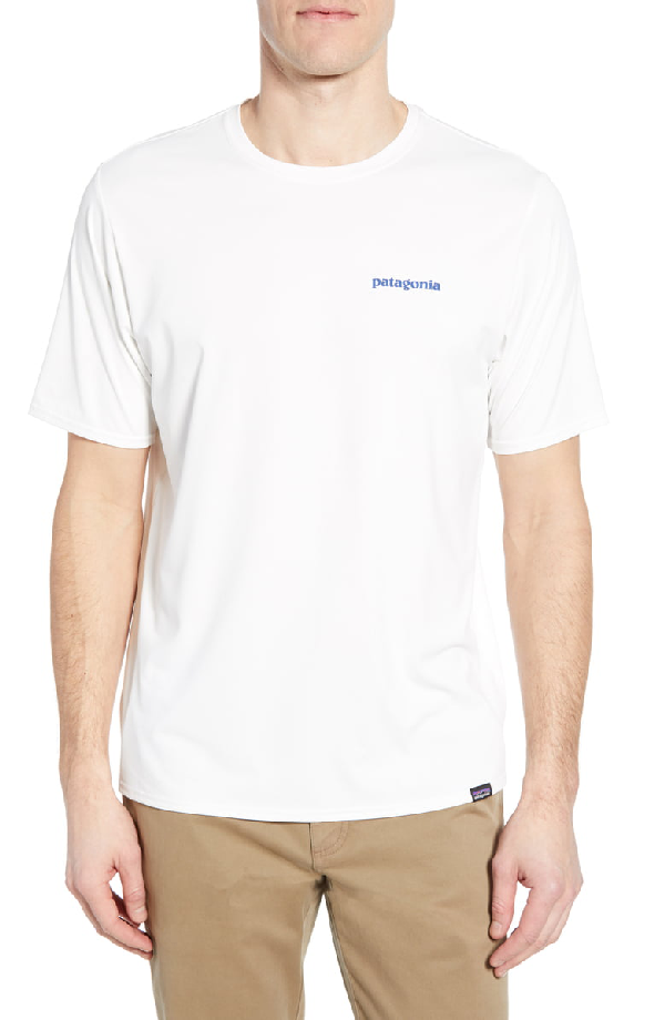 Patagonia Capilene Cool Daily Graphic T-Shirt In Boardshort Logo White