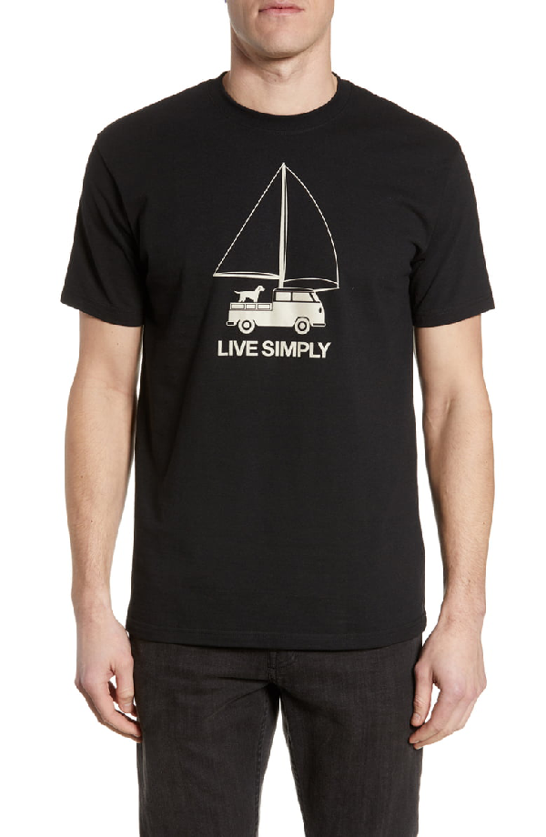 Patagonia Live Simply Wind Powered Responsibili-Tee T-Shirt In Black