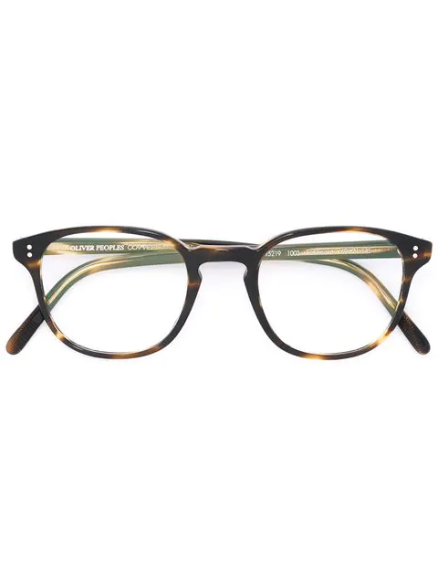 Oliver Peoples Finley Vintage Tortoiseshell Optical Glasses In Brown