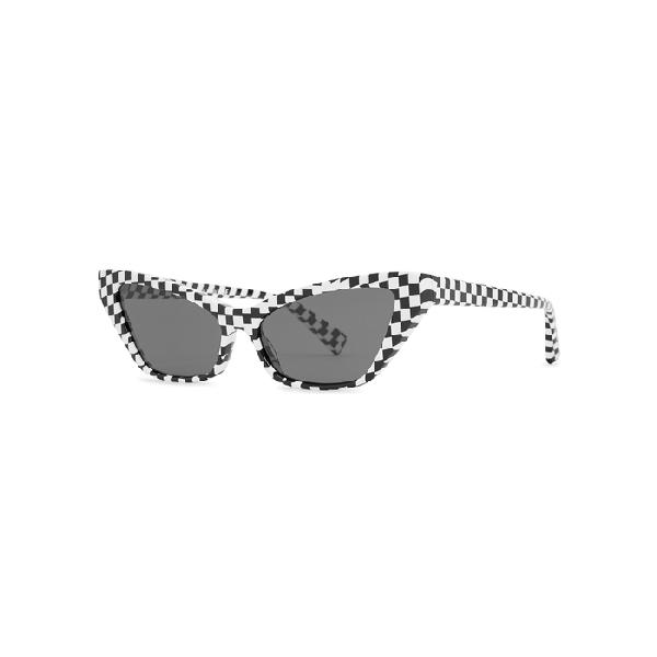 6e4d2db56a Alain Mikli Le Matin Checked Cat-Eye Sunglasses In Black. Harvey Nichols