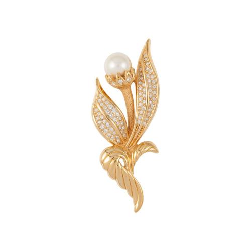 91446a70e Susan Caplan Vintage 1960S Vintage Grosse Floral Brooch In Gold ...