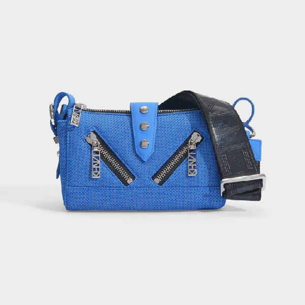 3e1907a86 Kenzo | Kalifornia Mini Shoulder Bag In Cobalt Polyester | ModeSens