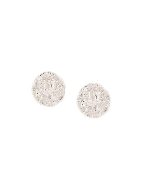 Natasha Schweitzer Coin Stud Earrings In Silver
