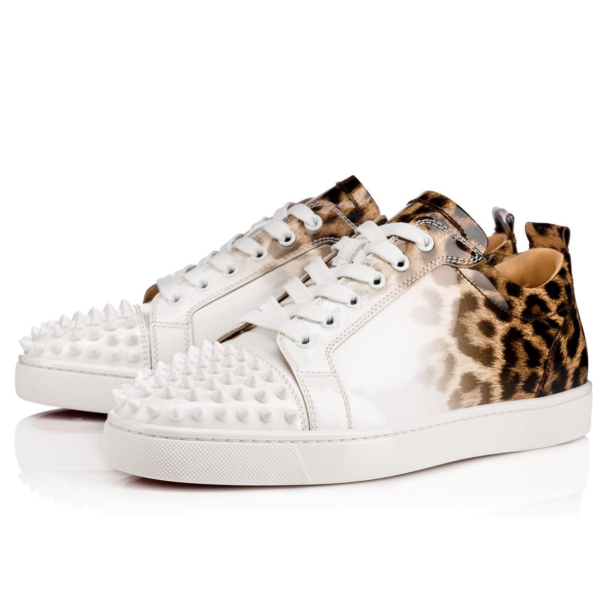 9470edb3f8b Louis Junior Spikes Men's Flat Latte-Leopard Patent Leather