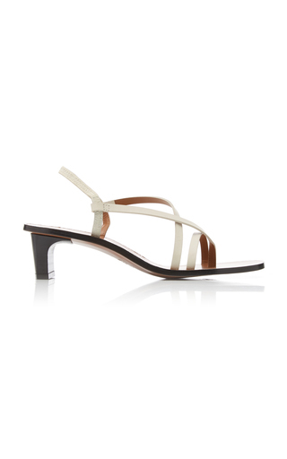 Atp Atelier Nashi Leather Sandals In White