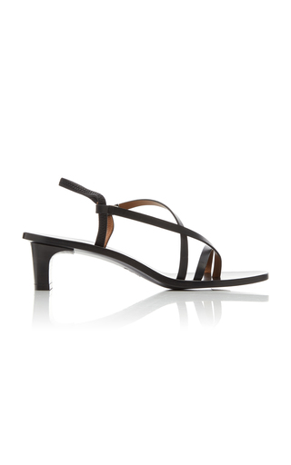 Atp Atelier Nashi Leather Sandals In Black