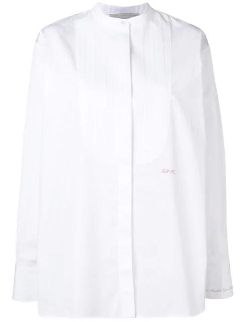 Stella Mccartney Pin Tuck Shirt In White