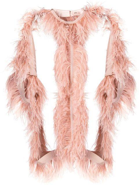 N°21 Nº21 Jacke Mit StraußEnfeder - Rosa In Pink