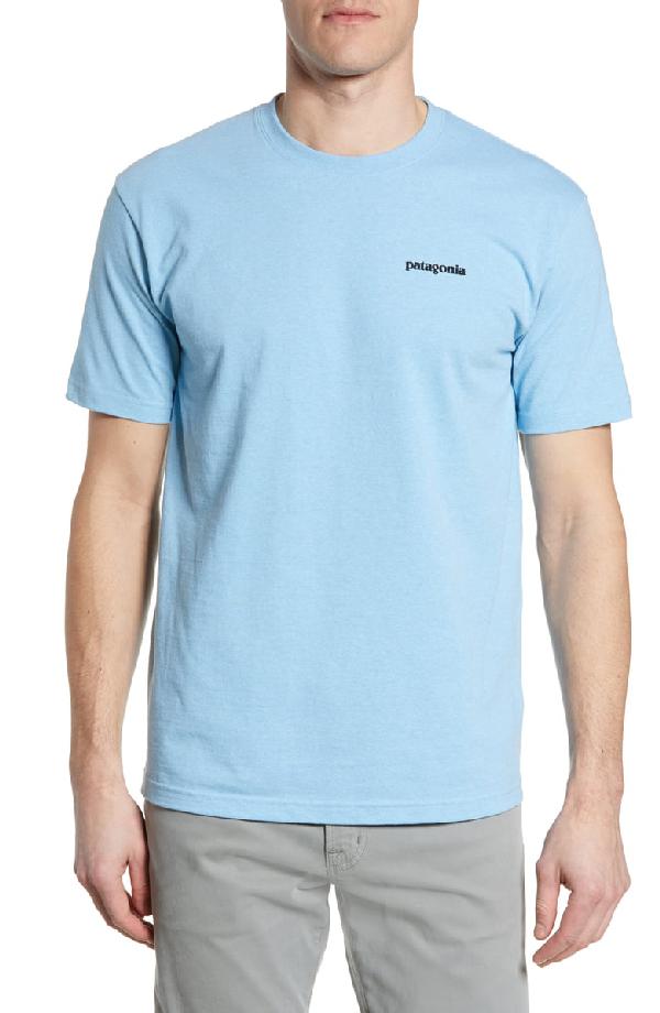 Patagonia Fitz Roy Tarpon Responsibili-Tee T-Shirt In Break Up Blue