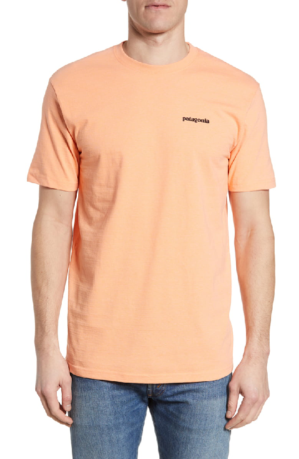 Patagonia Fitz Roy Tarpon Responsibili-Tee T-Shirt In Peach Sherbet