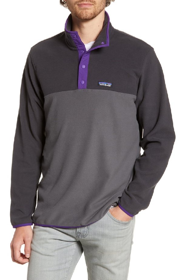 Patagonia Micro-D Snap-T Fleece Pullover In Forge Grey