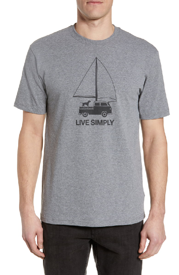 Patagonia Live Simply Wind Powered Responsibili-Tee T-Shirt In Gravel Heather
