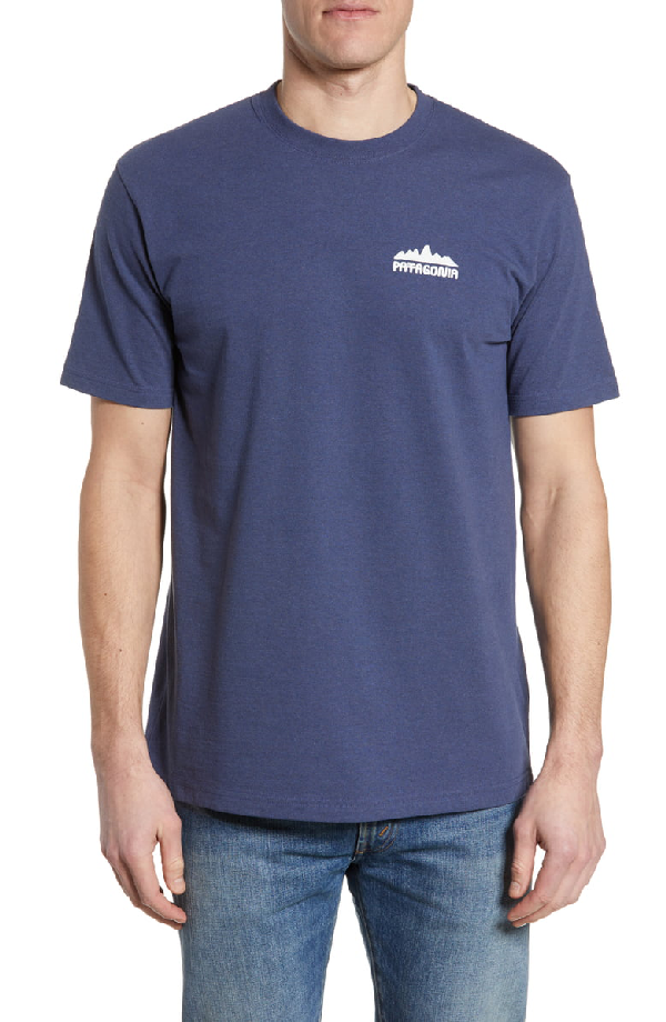 Patagonia Partyledge Responsibili-Tee T-Shirt In Dolomite Blue