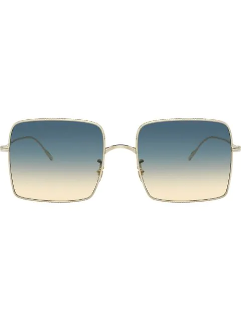 Oliver Peoples Rassine 56mm Sunglasses - Soft Gold/ Yellow Blue In 503575 Sotf Gold