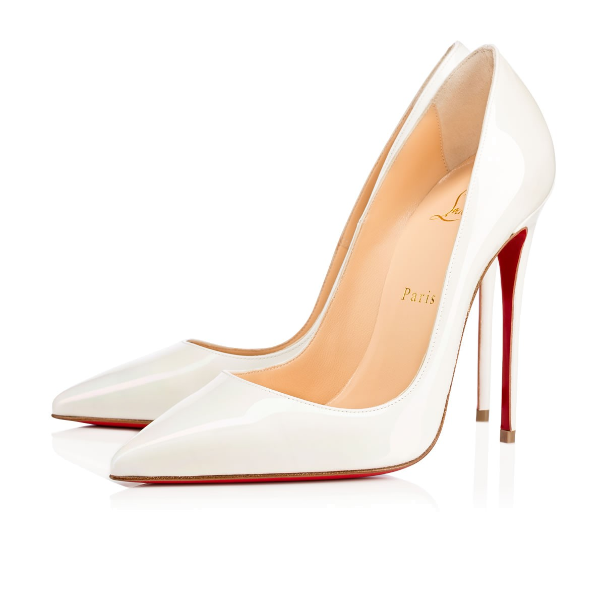 ba65771dc814 Christian Louboutin So Kate 120 Patent-Leather Pumps In White