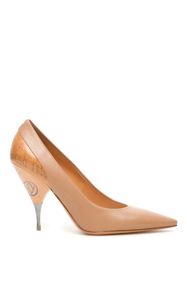 Maison Margiela Passport Pumps In Beige