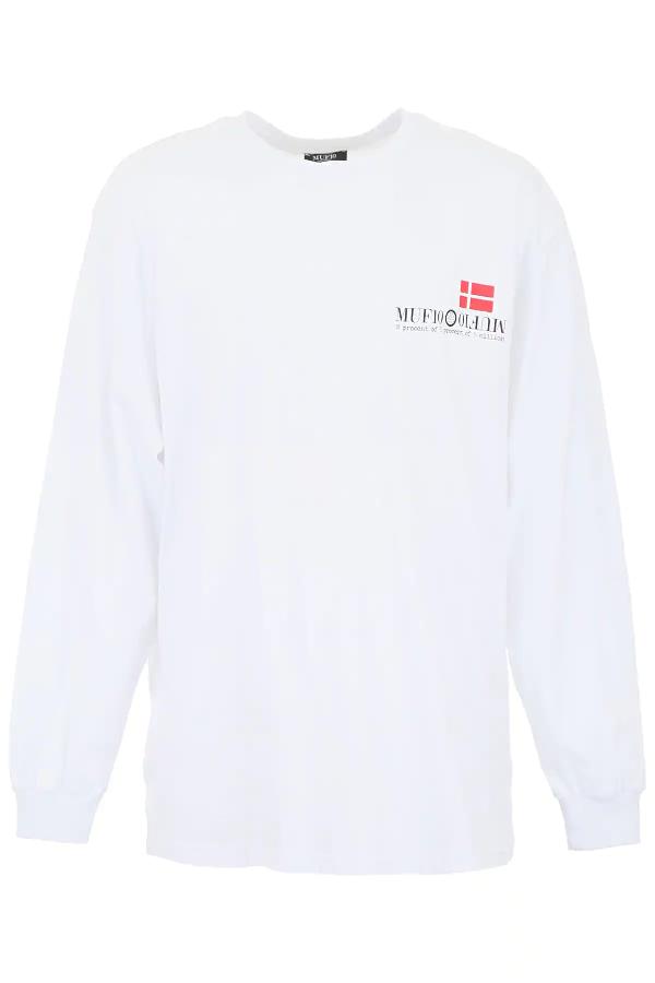 Muf10 Long-sleeved Dk T-shirt In White