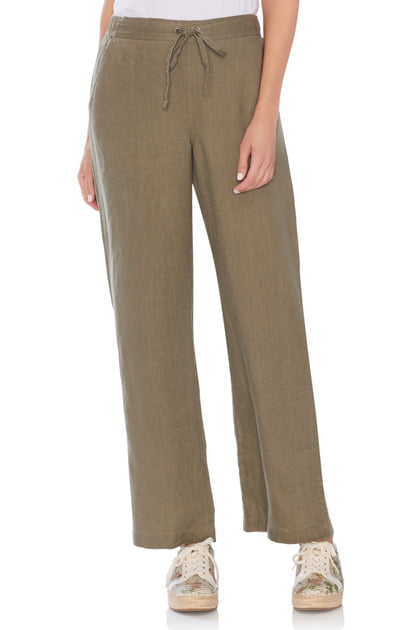 967a868b85 Vince Camuto Wide Leg Linen Pants In Dusty Sage