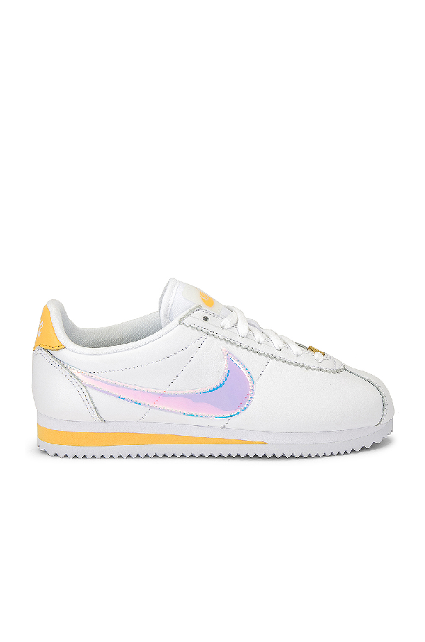 super popular d020e 65c03 Classic Cortez Sneaker in White, Clear, Topaz & Gold
