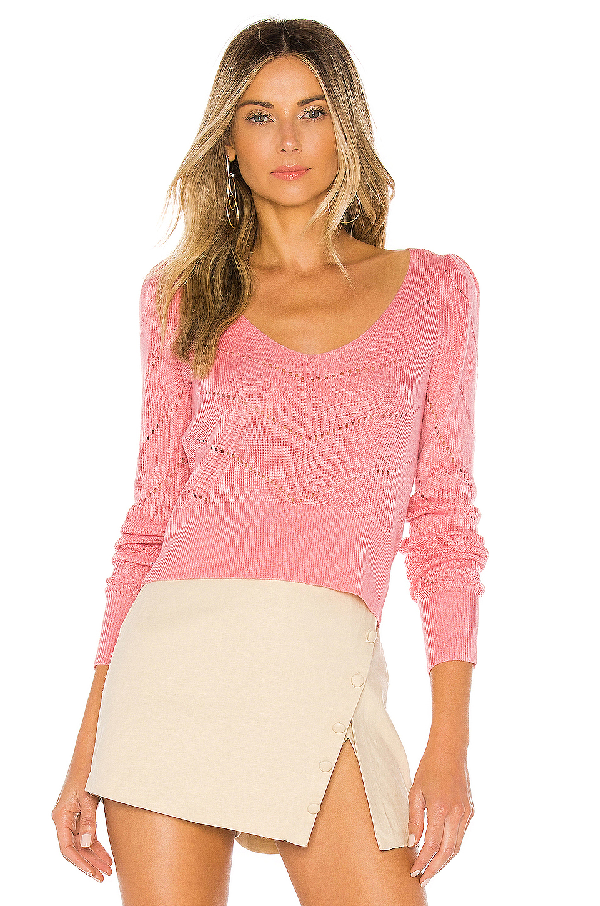 Majorelle Alonso Sweater In Pink.