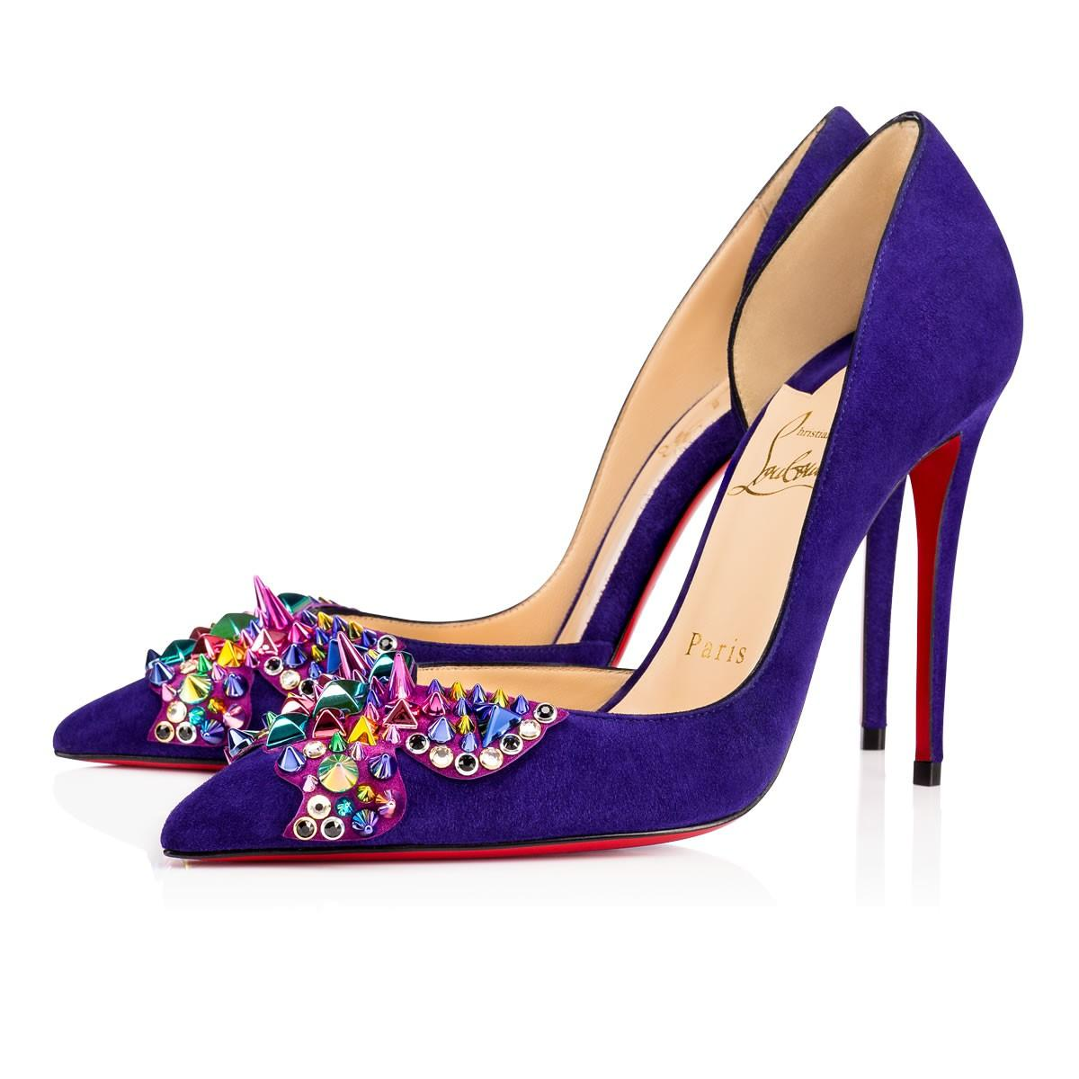 b7c783d6820 Farfaclou Veau Velours 100 Encre Veau Velours - Women Shoes - Christian  Louboutin in Version Encre