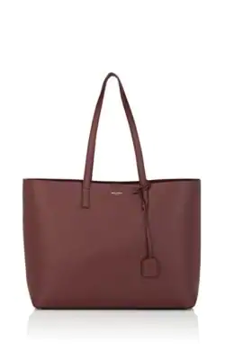 e9afd9aa2b6 Saint Laurent East-West Leather Shopper Tote Bag - Brown In Red ...